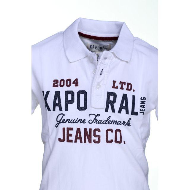Kaporal 5 - Polo garçon Kaporal Nipig White