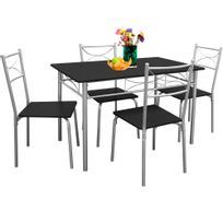 Rocambolesk - Superbe Ensemble tables et chaises Paul- salon cuisine terrasse table manger -set 5 pcs neuf