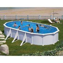 Gre Pools - Kit piscine hors sol acier ovale Atlantis avec renforts apparents