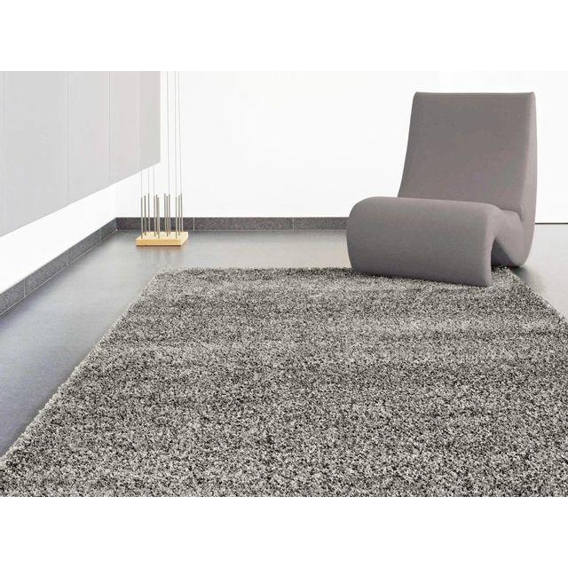 dlm tapis soft shaggy gris fonc 60x110cm confort pas cher achat vente tapis rueducommerce. Black Bedroom Furniture Sets. Home Design Ideas