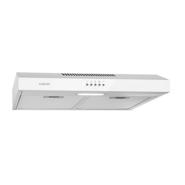 KLARSTEIN Contempo Neo hotte aspirante encastrable 60 cm , extraction 175m³ /h , éclairage LED , 67 dB , classe C , inox blanc
