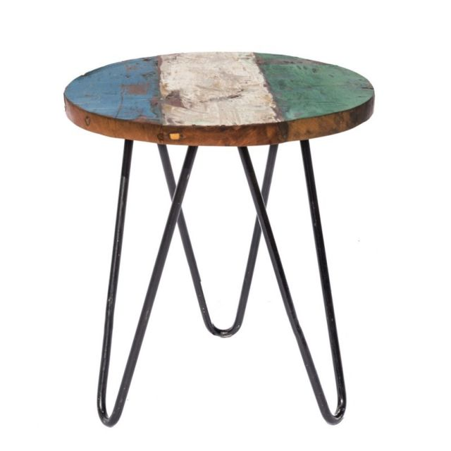 Ma Maison Mes Tendances - Table de salon de jardin ronde 40cm en ...