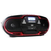 Trevi - Cmp-574 Boombox lecteur Cd Mp3 Usb K7 Fm/AM -rouge