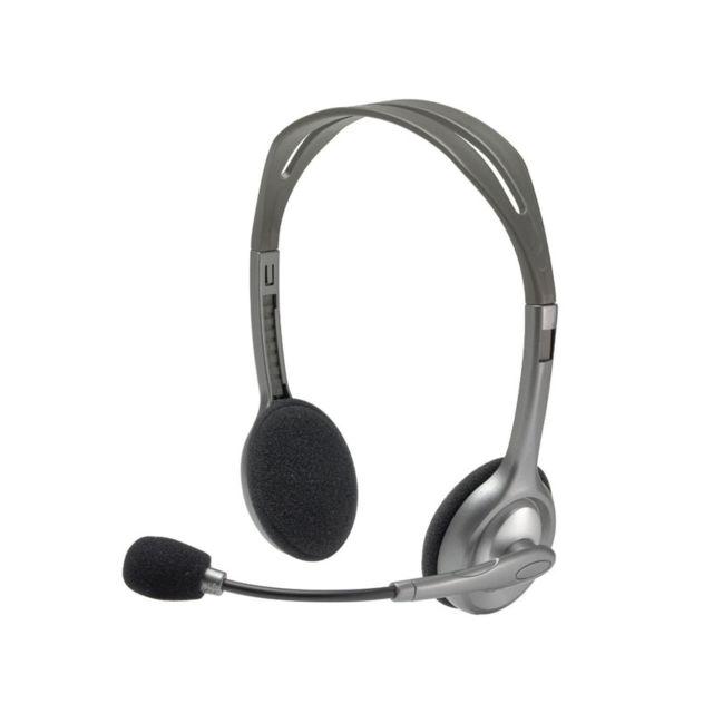 LOGITECH Micro casque - Stereo Headset H110 Communiquez avec le casque Logitech® Stereo Headset H110. Idéal pour passer des appels sur Internet, écouter de la musique, regarder des vidéos et jouer à des jeux vidéo en son stéréo intégral. Un micro antipara