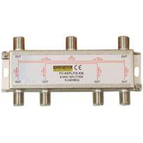 Konig - Répartiteur antenne Tv ou Sat 1 Entrée 6 Sorties avec passage Cc