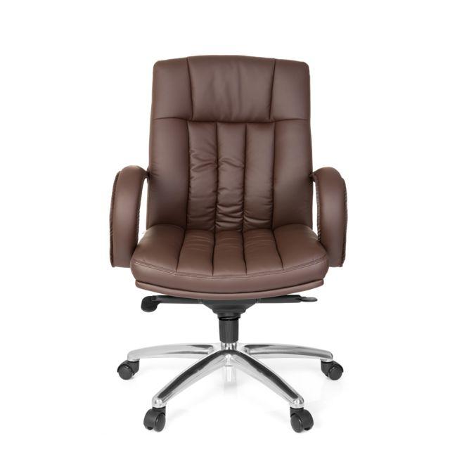 Hjh Office Fauteuil de direction Xxl G 100 simili cuir marron