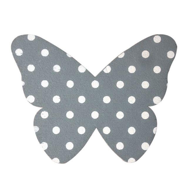Pince papillon à pois blancs