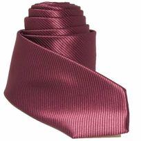 Touche Finale - Cravate Tendance Mi-Slim bordeaux soyeux