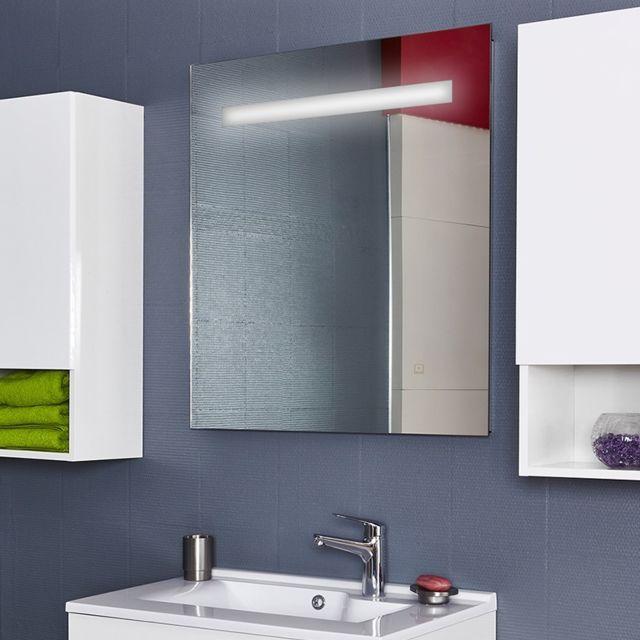 Creazur Miroir rétro éclairé Mirlux - 70x80 cm - avec interrupteur sensitif