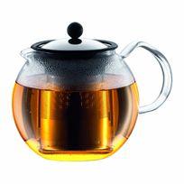 Bodum - Assam Théière à piston, filtre en inox brillant, 1.0 l