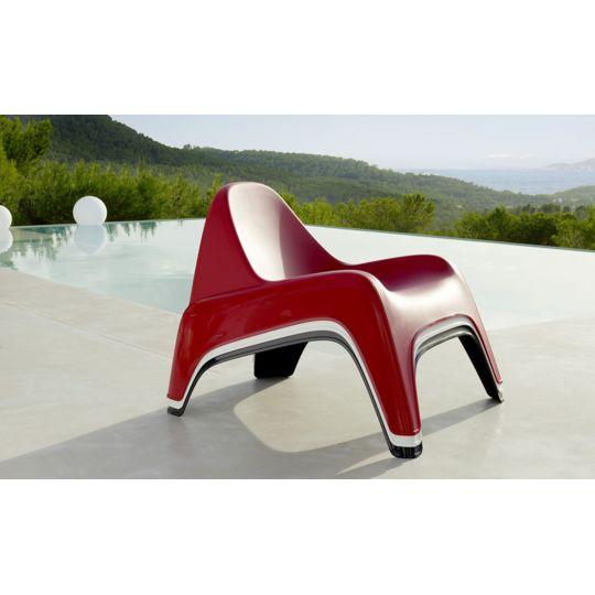 Fauteuil de jardin Relax® - Rouge à Prix Carrefour