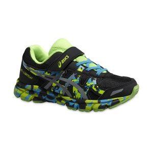 Chaussures Junior Asics Gel-lightplay Ps noir argent vert