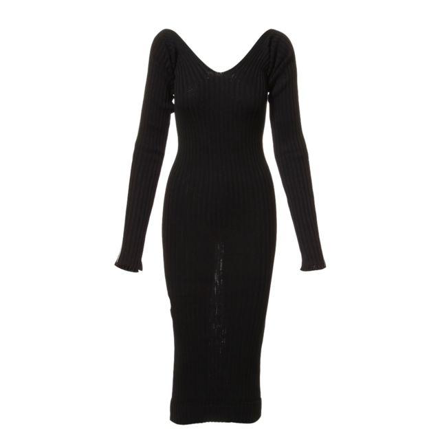 Celine CÉLINE Femme 26W86770738NO Noir Coton Robe