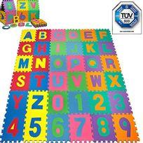 Rocambolesk - Superbe Puzzle tapis mousse bébé alphabet et chiffres 86 pièces 36 dalles 32x32 cm enfant bas âge neuf