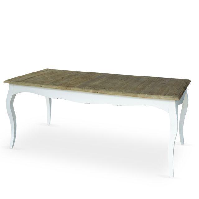 Table extensible en bois CHAMBORD Blanc