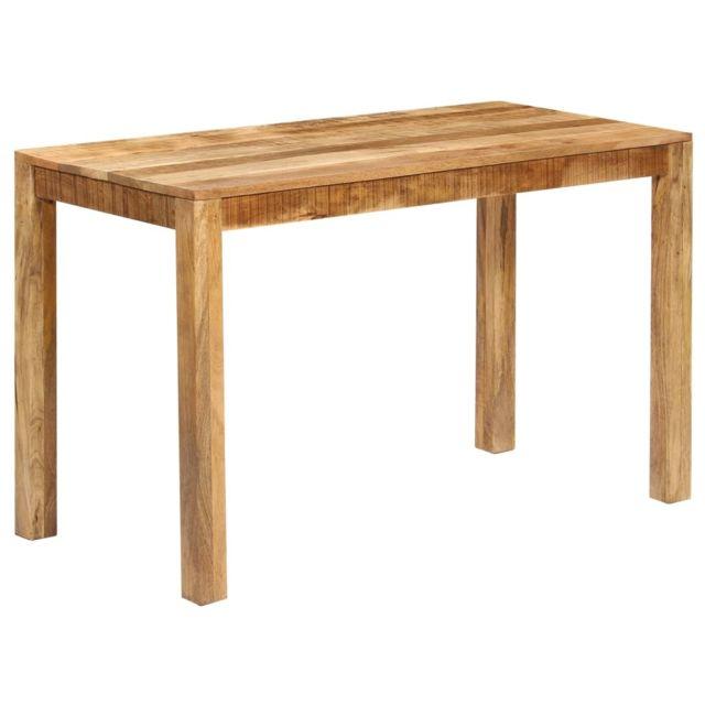 Moderne Tables ligne Lomé Table de salle à manger Bois de manguier massif 120x60x76 cm