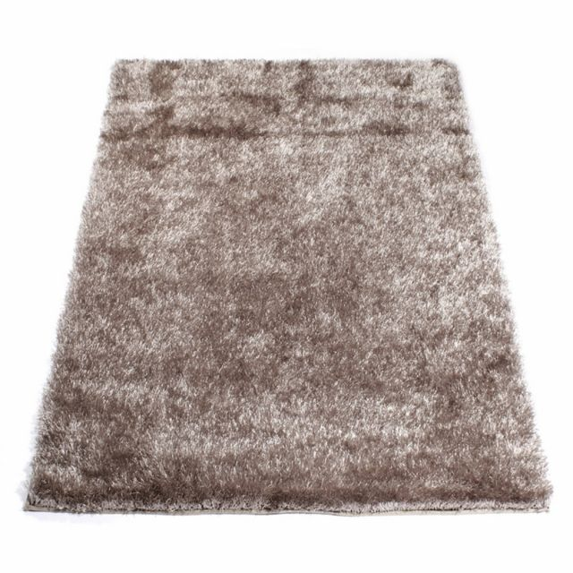 matin calin tapis shaggy taupe 60 x 120 cm taupe clair pas cher achat vente tapis rueducommerce - Tapis Shaggy