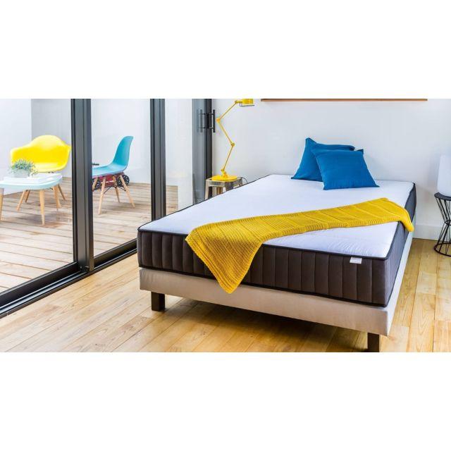 hbedding matelas m moire de forme 90x190 memo zen mousse visco lastique et ergonomique achat. Black Bedroom Furniture Sets. Home Design Ideas