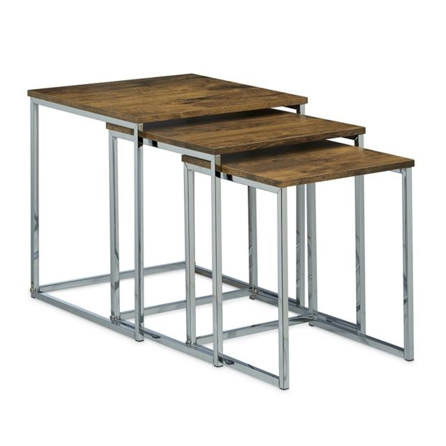 helloshop26 lot de 3 table basse gigogne bout de canap design moderne bois 0913001 noir - Bout De Canape Design