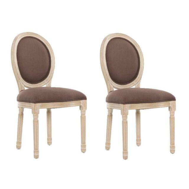 Inside 75 Lot de 2 chaises médaillon Versailles style
