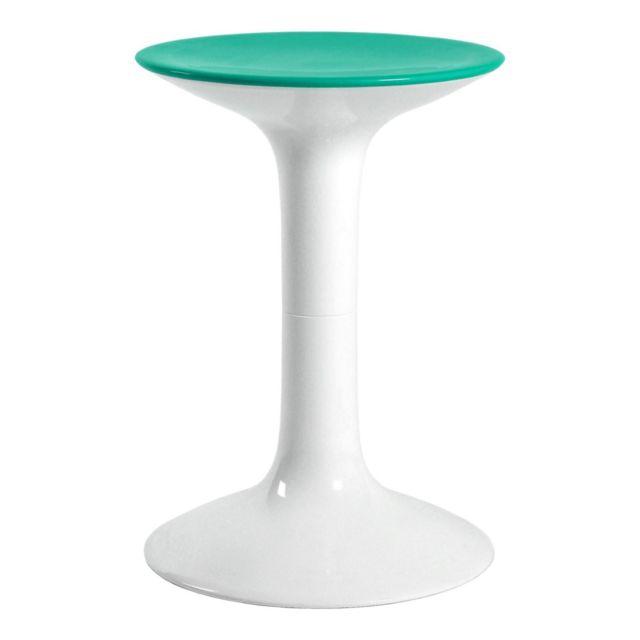Tatay Tabouret Diabolo Blanc-Turquoise