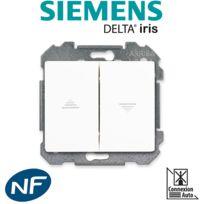 Siemens - Interrupteur pour volet roulant Blanc Delta Iris