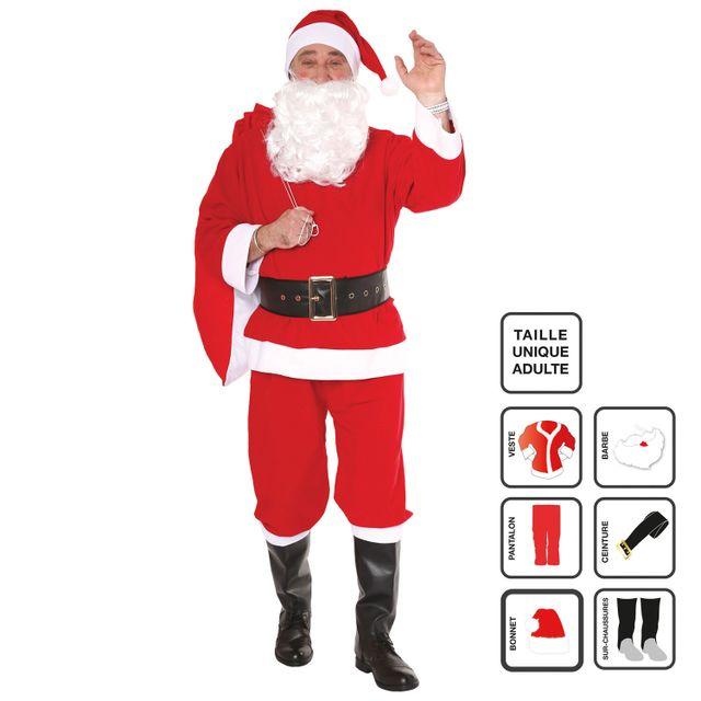 Noël Déguisement Pas Jja Adulte Cher Père Achat 6 Pièces 45LRAj