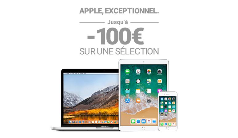 Jusqu'à -100€ sur une sélection de produit Apple