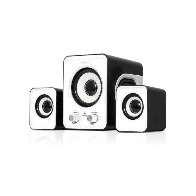 ADVANCE Enceinte soundphonic 2,1 6 W RMS - Blanche SoundPhonic 2.1 Black - 6W RMS - Compact et design !