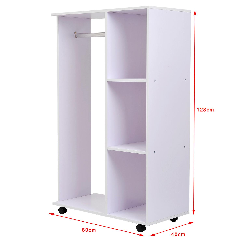 Armoire de vetements armoire de rangement amovible en panneaux de particules 04