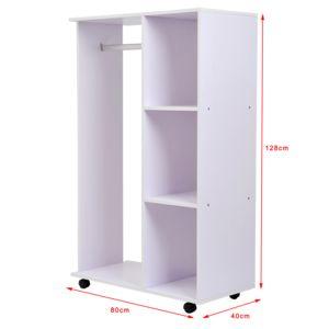 Soldes homcom armoire de vetements armoire de rangement for Rangement vetement chambre