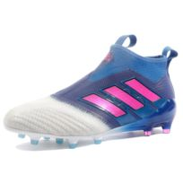 detailed look ba0bf 90fe6 Adidas - Ace 17+ Purecontrol FG Homme Chaussures Football Bleu Multicouleur  40 23
