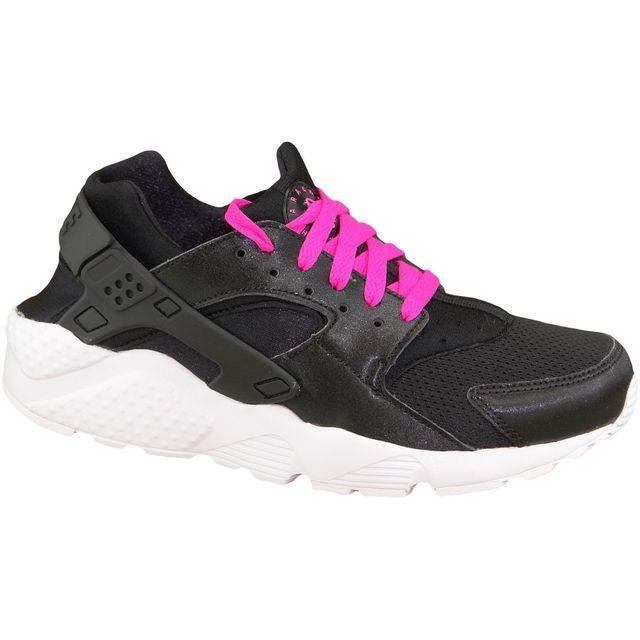 8323f7be6f6c5 Nike - Huarache Run Gs 654280-007 Noir - pas cher Achat   Vente Baskets  enfant - RueDuCommerce