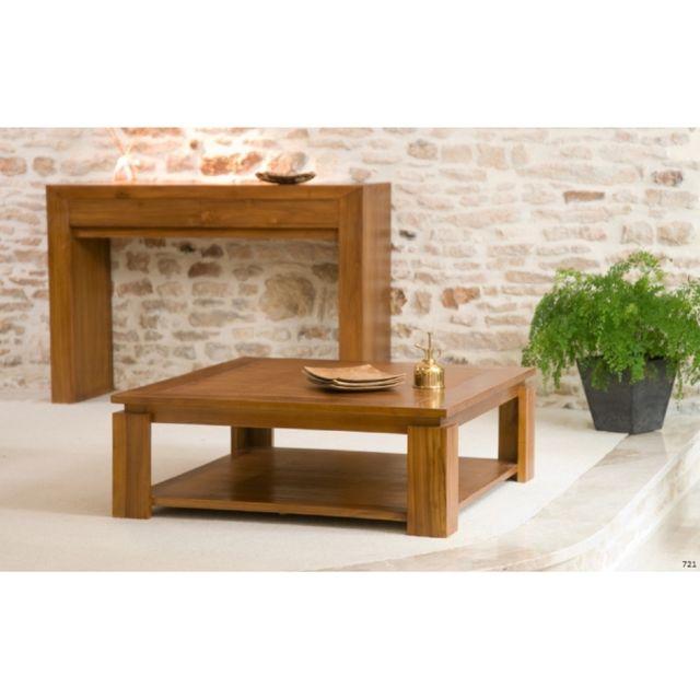 MACABANE Table basse sous plateau 90 x 90 cm
