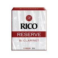 Ricoh - Rico Anches Rico Reserve pour clarinette si bémol, force 3.5, pack de 10