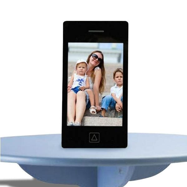 Totalcadeau Cadre photo en forme de smartphone blanc
