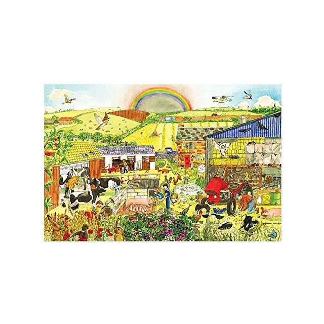 Bigjigs Toys Bj013b Farm Floor Puzzle 48 Piece