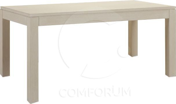 Comforium Table fixe contemporaine 190 cm piétement en hêtre massif