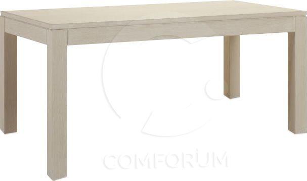 Comforium Table fixe contemporaine 190 cm piétement en hêtre massif
