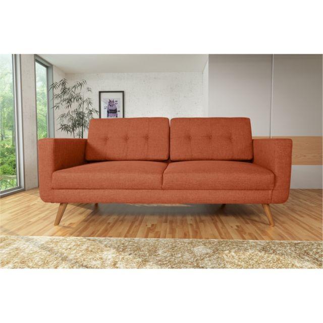 Rocambolesk Canapé Hedvig 3 savana orange 18 pieds naturels sofa divan
