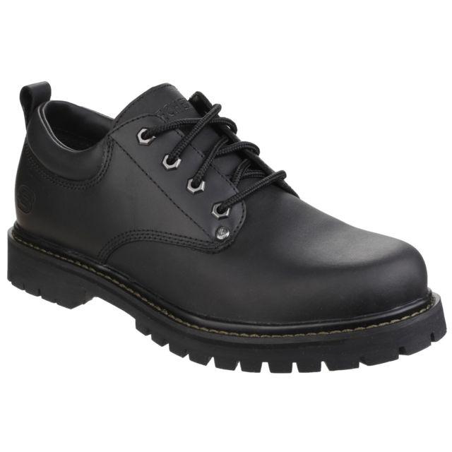 Skechers Chaussures à lacets Tom Cats - Homme 47,5 Fr, Noir Utfs3847