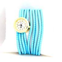 Yilisha - Montre Femme Cuir Bleu Ciel Strass 757