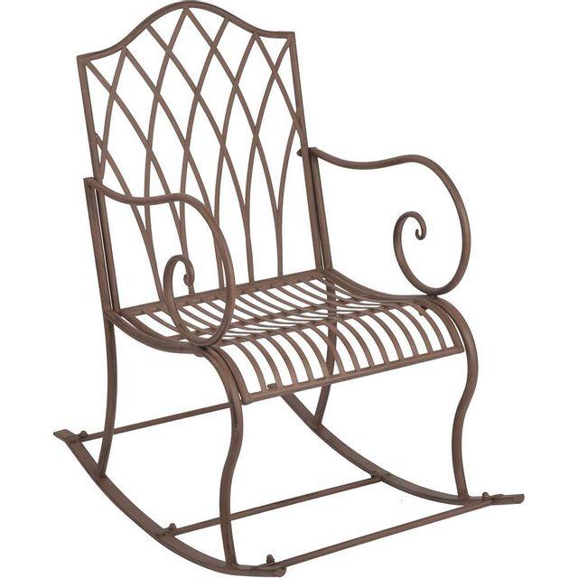 ESSCHERT DESIGN Rockingchair de jardin en métal