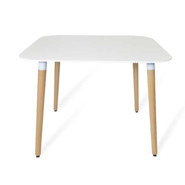 Novara Mobili - Table Dora Scandinavian Style 100x100 Blanc - 100cm x 73cm x 100cm