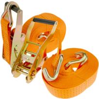 Sangle de Serrage avec cliquet 50 mm x 5 m 5000 kg Orange Pack 2 PrimeMatik