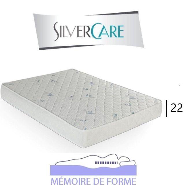 Inside 75 Matelas Octava Silvercare épaisseur 22 cm dont 4 cm à mémoire de forme 50Kg/m3 pour canapé rapido 80 cm