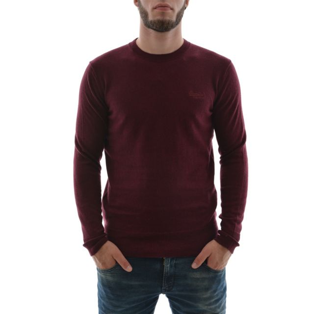 1c4df78acf18a Superdry - Pull hiver m61083knds rouge XXL - pas cher Achat   Vente Pull  homme - RueDuCommerce