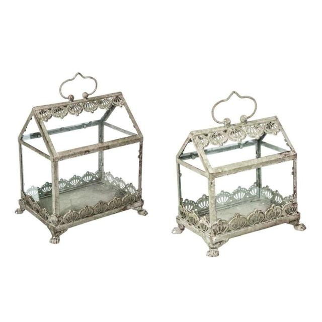 lot de 2 petites serres de jardins spring garden pas cher achat vente nichoir pour oiseaux. Black Bedroom Furniture Sets. Home Design Ideas