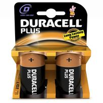 Duracell - lot de 2 piles type lr20 1.5 volts - 10603