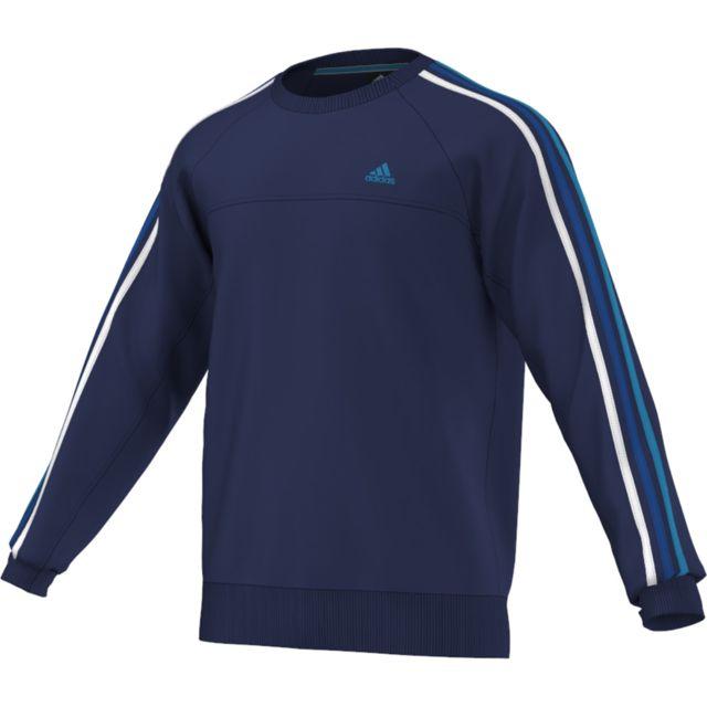 Stripes Crew 3 Shirt Sweat Essential Performance Adidas 7x0XYq6U